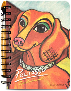 "Dachshund Pawcasso by Paw Palettes - 5"" x 7"" Journal & Pen Set"