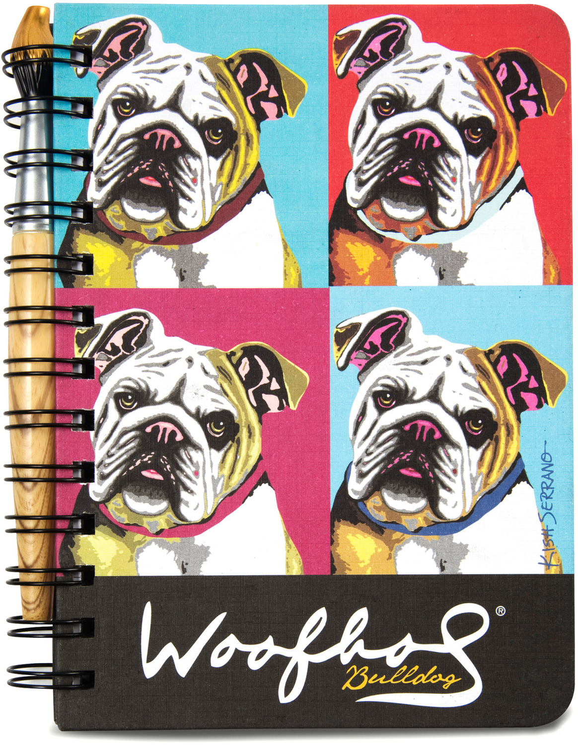 "Bulldog Woofhol by Paw Palettes - Bulldog Woofhol - 5"" x 7"" Journal & Pen Set"