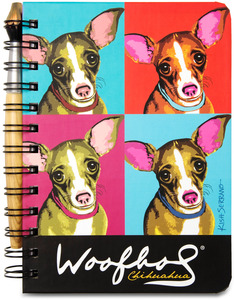 "Chihuahua Woofhol by Paw Palettes - 5"" x 7"" Journal & Pen Set"