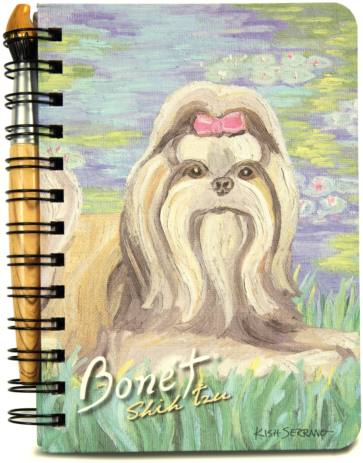 "Shih Tzu Bonet by Paw Palettes - Shih Tzu Bonet - 5"" x 7"" Journal & Pen Set"