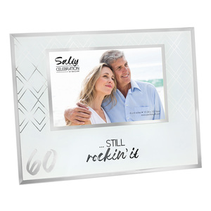 "60 by Salty Celebration - 9.25"" x 7.25"" Frame (Holds 6"" x 4"" Photo)"