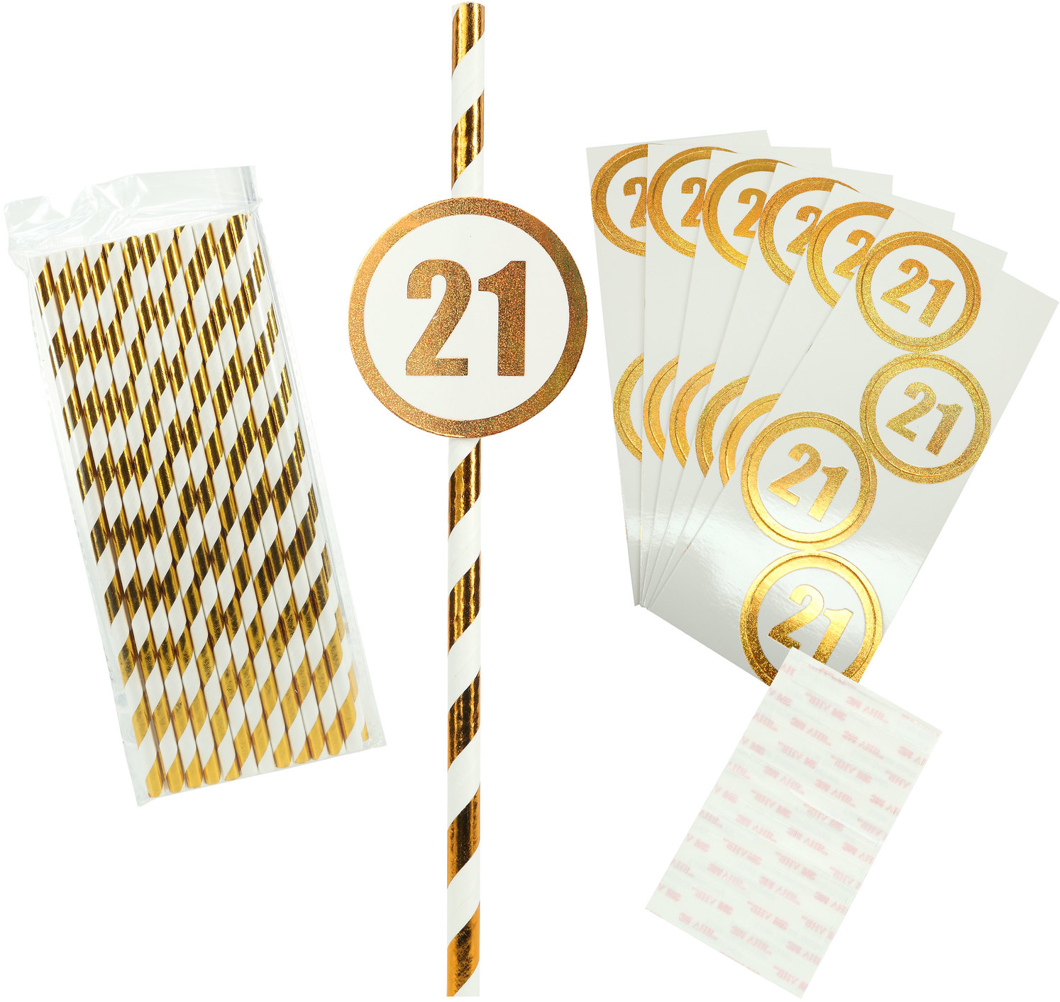 21 by Salty Celebration - 21 - 24 Pack Party Straws
