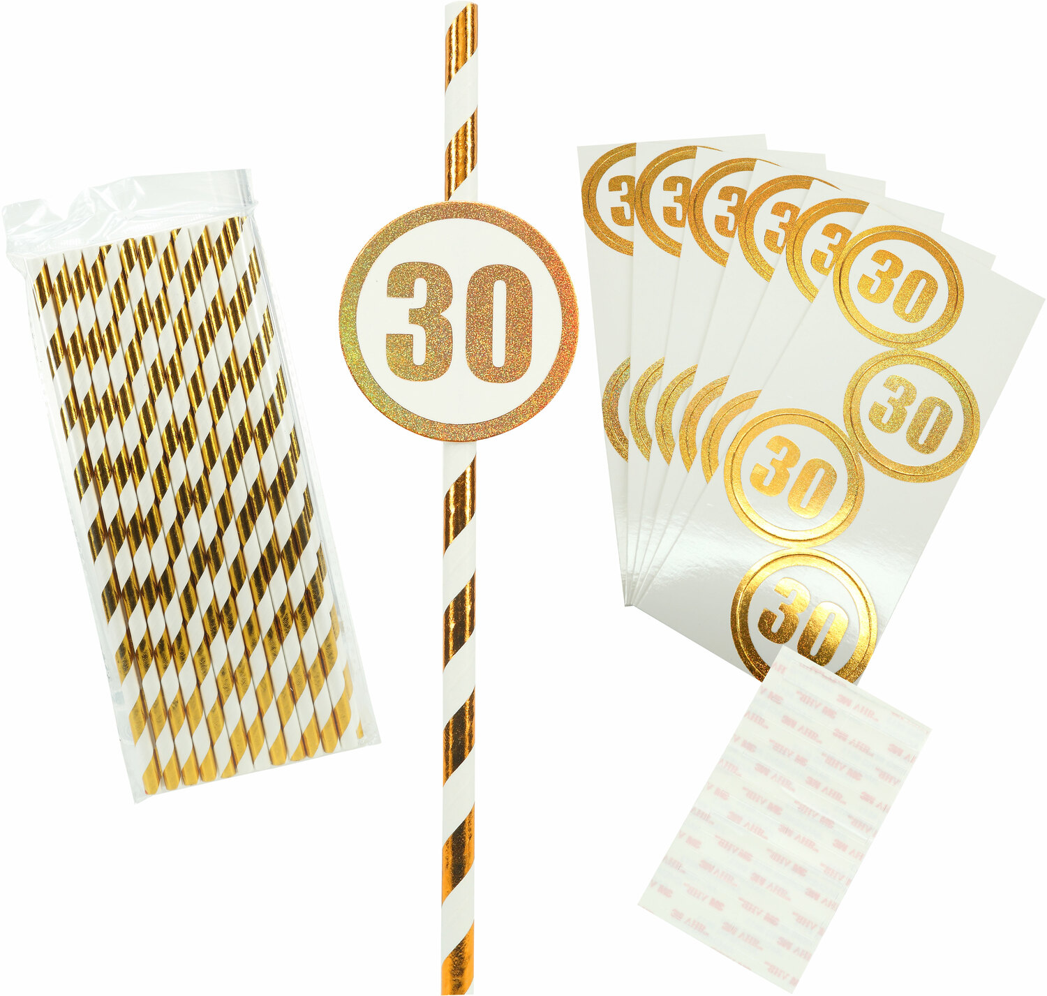 30 by Salty Celebration - 30 - 24 Pack Party Straws