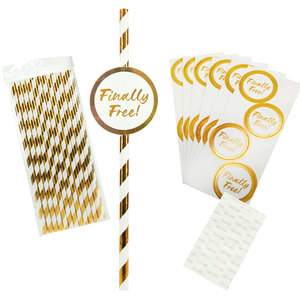 Finally Free by Salty Celebration - 24 Pack Party Straws