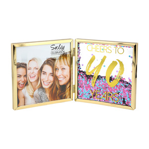 "Cheers to 40 by Salty Celebration - 4.75"" Hinged Sentiment Frame"