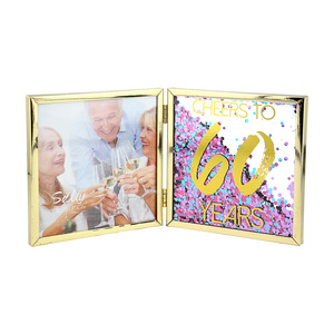 "Cheers to 60 by Salty Celebration - 4.75"" Hinged Sentiment Frame"