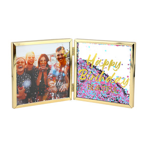 "Happy Birthday by Salty Celebration - 4.75"" Hinged Sentiment Frame"