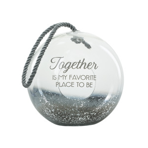 "Together by Lots of Lanterns - 9.5"" Smoke Glass Lantern"