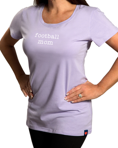 Football Mom by Mom Love - Small Purple T-Shirt