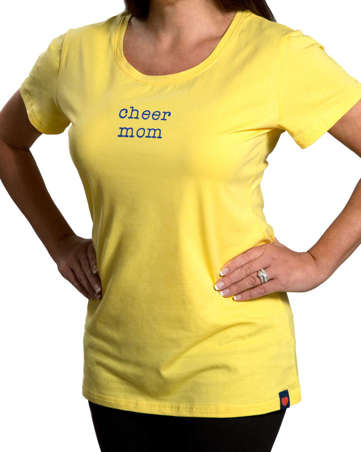 Cheer Mom by Mom Love - Cheer Mom - Small Yellow T-Shirt