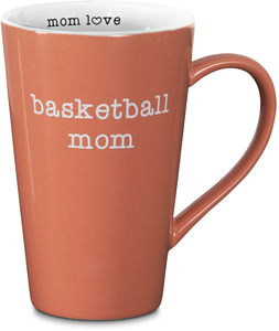 "Basketball Mom by Mom Love - 5.5"" -  18 oz Latte Mug"