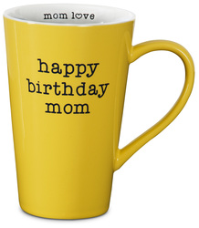 "Birthday Mom by Mom Love - 5.5"" -  18 oz Latte Mug"