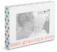 "Best Grandma  by Mom Love - 7.5"" x 5.5"" Frame (Holds 4"" x 6"" Photo)"