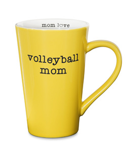 "Volleyball Mom by Mom Love - 5.5"" -  18 oz Latte Mug"