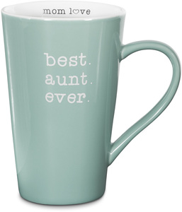 "Best Aunt by Mom Love - 5.5"" -  18 oz Latte Mug"