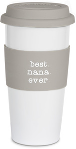 Best Nana by Mom Love - 15 oz Double-Walled Travel Mug