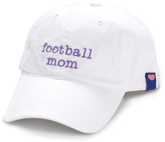 Football Mom by Mom Love - White Adjustable Hat