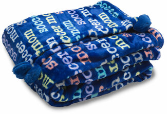"Soccer Mom by Mom Love - 60"" x 50"" Royal Plush Blanket"