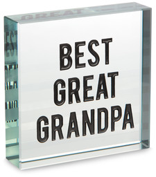 "Great Grandpa by Man Made - 3"" x 3"" Glass Plaque"