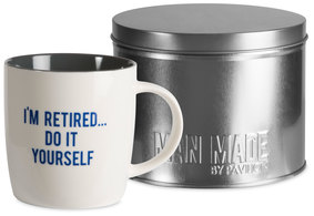 Retired by Man Made - 12 oz Cup with Gift Tin