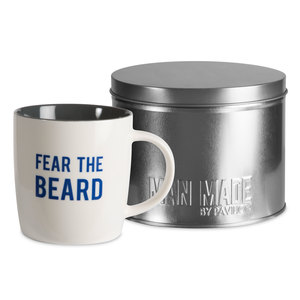 Fear the Beard by Man Made - 12 oz Cup with Gift Tin