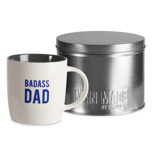 Badass Dad by Man Made - 12 oz Cup with Gift Tin