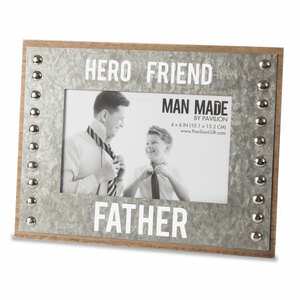 "Father by Man Made - 8.5"" x 6.5"" Frame (Holds 4"" x 6"" Photo)"