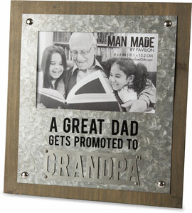 "Grandpa by Man Made - 8.25"" x 9"" Frame (Holds 4"" x 6"" Photo)"