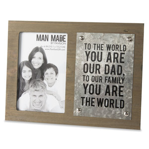 "Dad by Man Made - 7"" x 9.5"" Frame (Holds 4"" x 6"" Photo)"