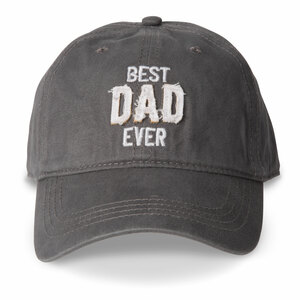 Best Dad by Man Made - Dark Gray Adjustable Hat