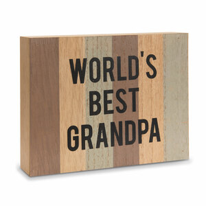 "Grandpa by Man Made - 6.5"" x 5"" MDF Plaque"