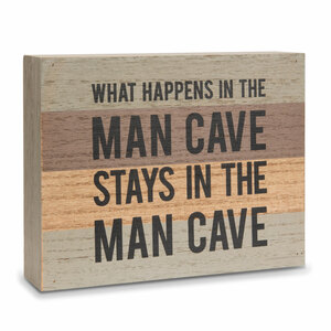 "Man Cave by Man Made - 6.5"" x 5"" MDF Plaque"