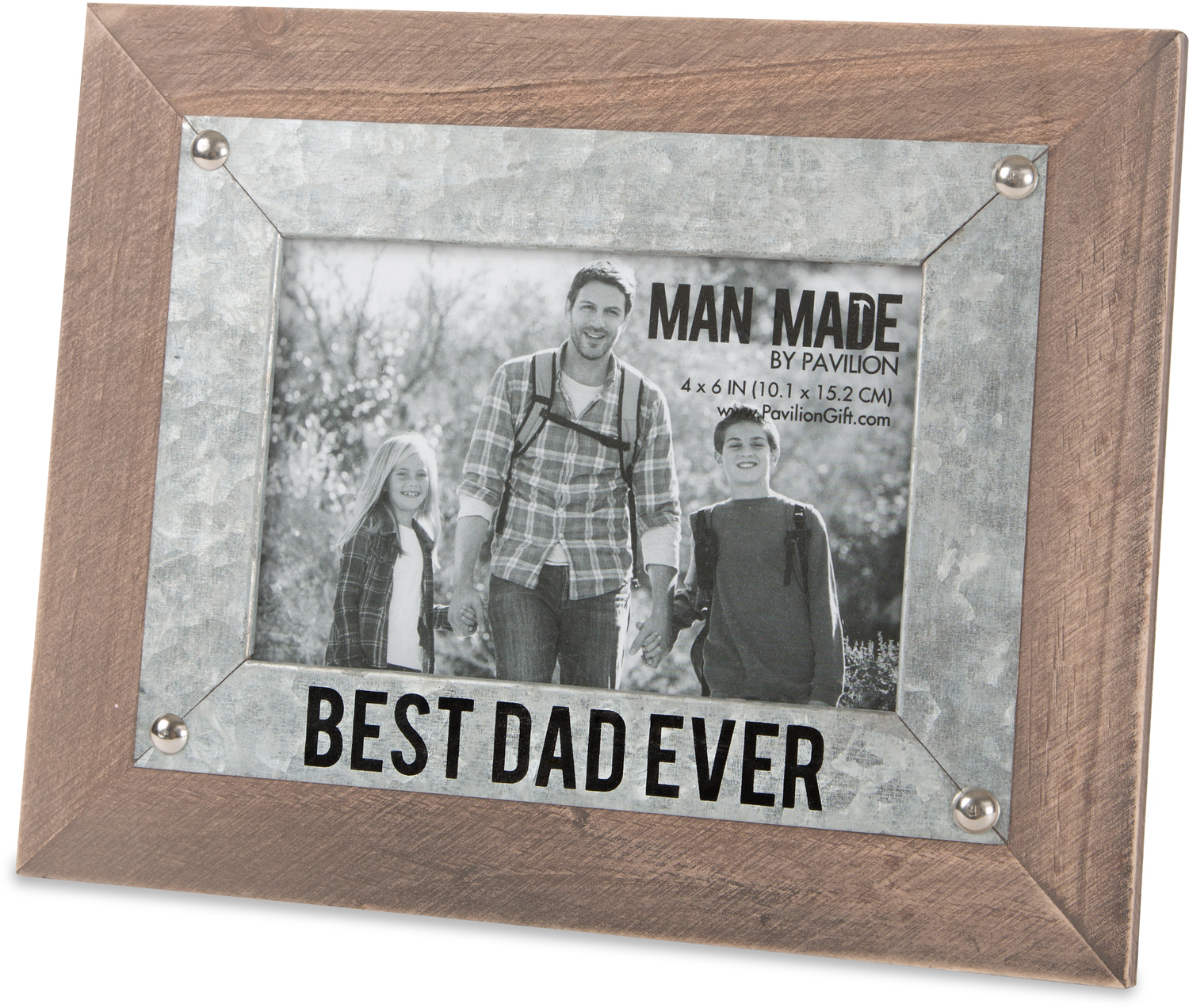 "Best Dad by Man Made - Best Dad - 9.5"" x 7.5"" Frame (Holds 4"" x 6"" Photo)"