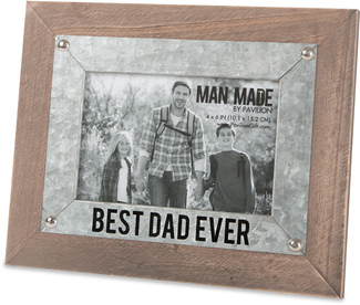 "Best Dad by Man Made - 9.5"" x 7.5"" Frame (Holds 4"" x 6"" Photo)"
