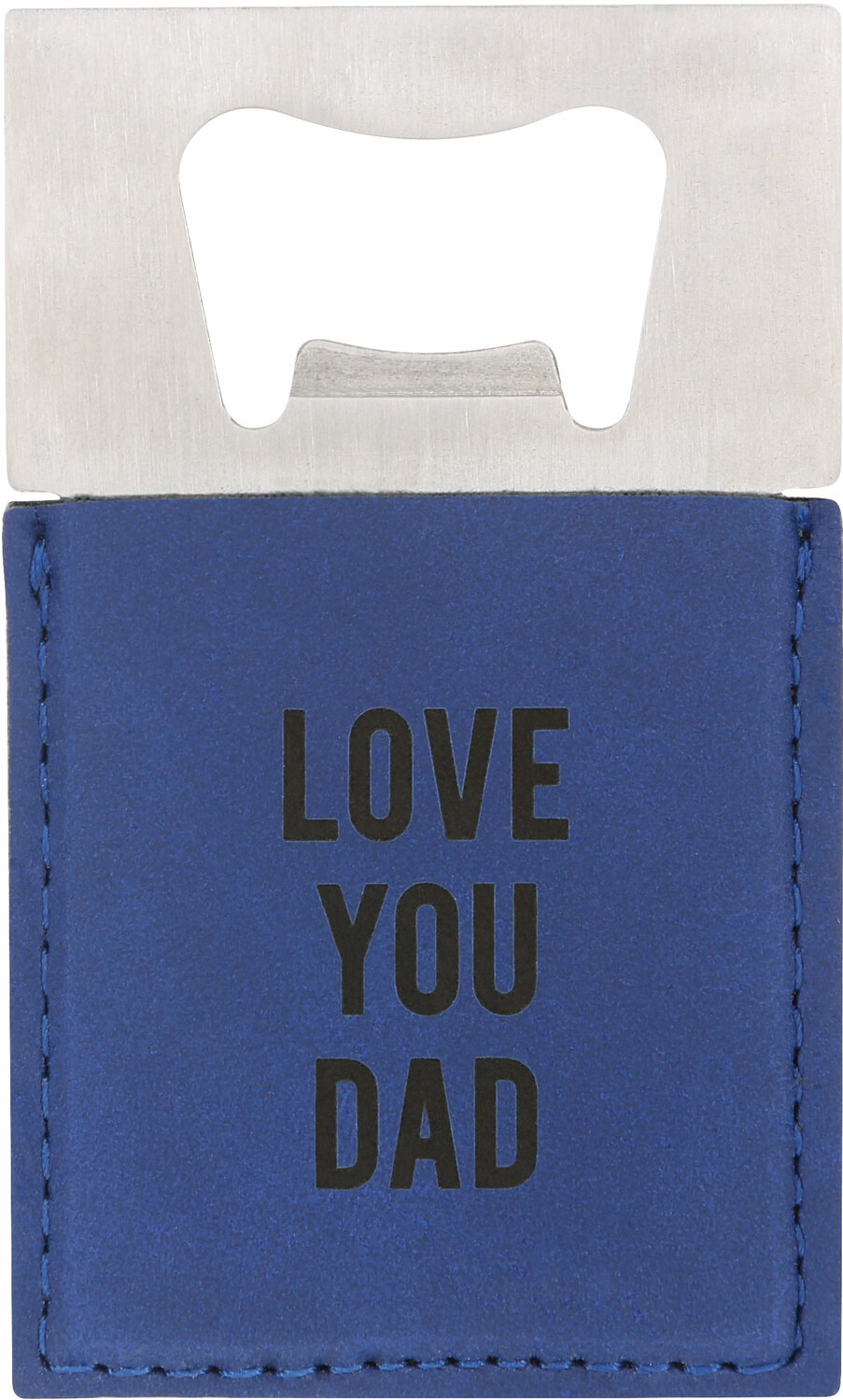 "Dad by Man Made - Dad - 2"" x 3.5"" Bottle Opener Magnet"