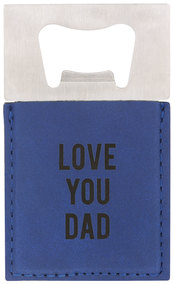 "Dad by Man Made - 2"" x 3.5"" Bottle Opener Magnet"