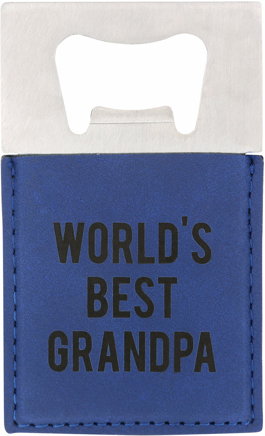"Grandpa by Man Made - Grandpa - 2"" x 3.5"" Bottle Opener Magnet"