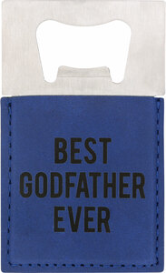 "Godfather by Man Made - 2"" x 3.5"" Bottle Opener Magnet"