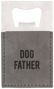 "Dog by Man Made - 2"" x 3.5"" Bottle Opener Magnet"