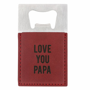 "Papa by Man Made - 2"" x 3.5"" Bottle Opener Magnet"