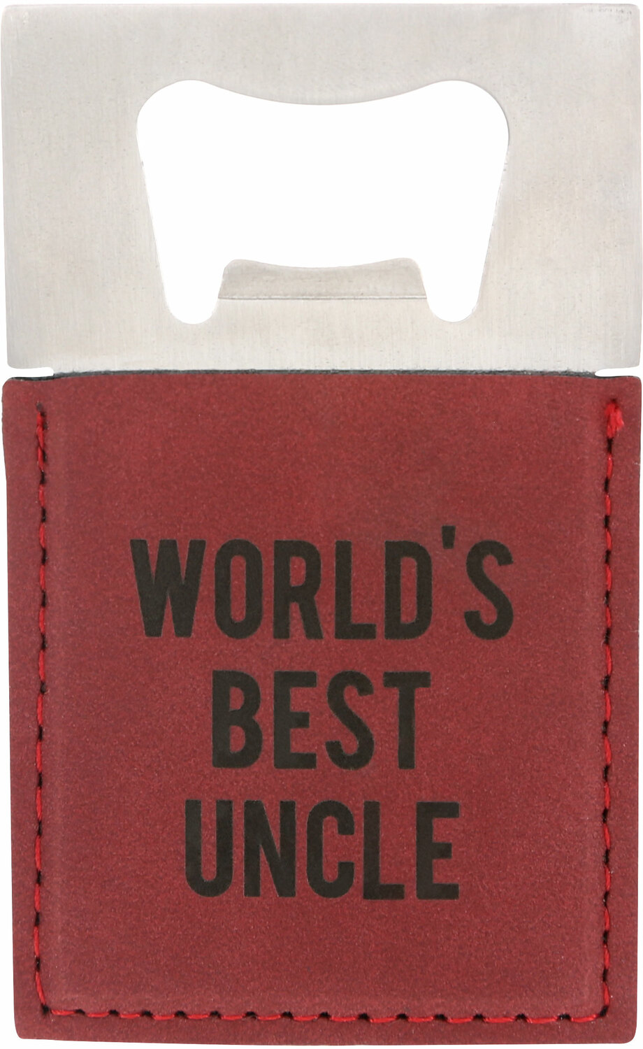 "Uncle by Man Made - Uncle - 2"" x 3.5"" Bottle Opener Magnet"