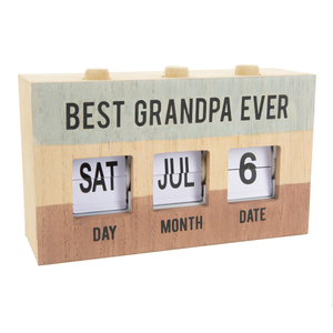 Grandpa by Man Made - Perpetual Desk Calendar