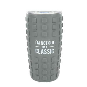 Classic by Man Made - 20 oz Travel Tumbler with 3D Silicone Wrap