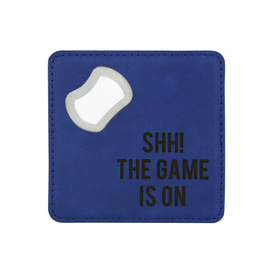 "The Game by Man Made - 4"" x 4"" Bottle Opener Coasters"