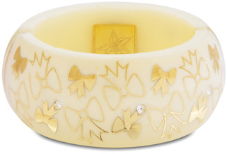 White Bow by H2Z - Jewelry - Resin Bangle Bracelet