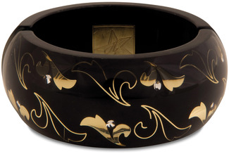 Black Scroll by H2Z - Jewelry - Resin Bangle Bracelet