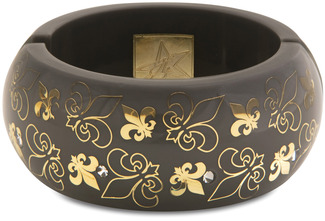 Gray Fleur de Lis by H2Z - Jewelry - Resin Bangle Bracelet