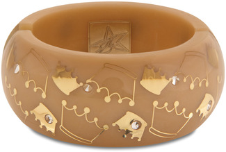 Bronze Crown by H2Z - Crystal Bangle Bracelets and Earrings - Resin Bangle Bracelet