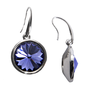 "Liza Tanzanite  by H2Z Made with Swarovski Elements - 0.625"" Crystal  Dangle Earring made from Swarovski Elements"