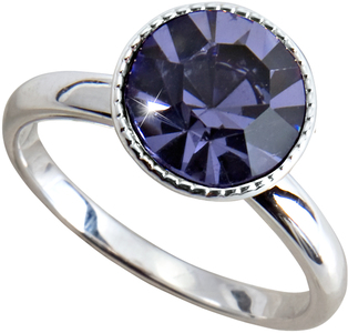 "Liza Tanzanite  by H2Z Made with Swarovski Elements - Size 8 Ring with 0.375"" Crystal made from Swarovski Elements"